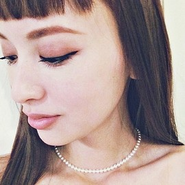 MIKIMOTO - baby pearl short necklace
