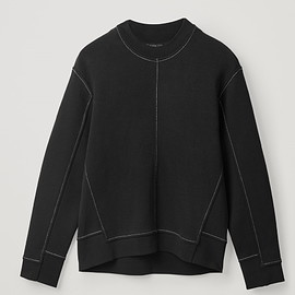 COS - PANELLED RECYCLED COTTON SWEATSHIRT