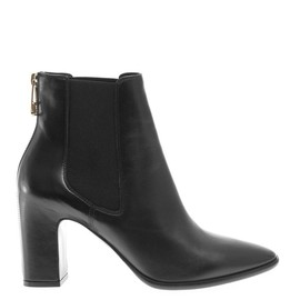 BALENCIAGA - Zip-back leather ankle-boots