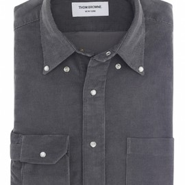 THOM BROWNE - CLASSIC CORDUROY SNAP BUTTON SHIRT