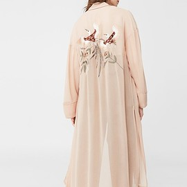 Mango - Embroidered robe