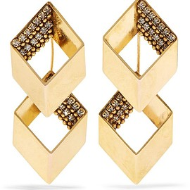 Erickson Beamon - Smoking Jacket gold-plated Swarovski crystal earrings