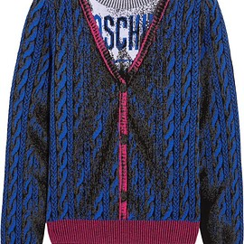 Moschino - Intarsia wool sweater