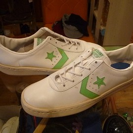 "converse - 「<used>70's converse CRIS EVERT TENNIS(LEATHER) white/lt.green""made in USA"" size:US10(26.5-27cm) 13800yen」販売中"