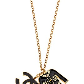 CHANEL - signature jacket and logo pendant necklace