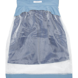 MURRAL - See Through Skirt (White/Blue)
