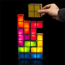 ThinkGeek - tetris_stackable_LED_desk_lamp