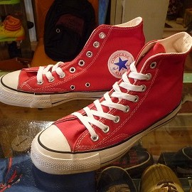 "converse - 「<used>80's converse ALLSTAR HI red""made in USA"" size:US6/h(25cm) 11800yen」完売"
