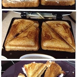 Blueberry Breakfast Grilled Cheese - Blueberry Breakfast Grilled Cheese