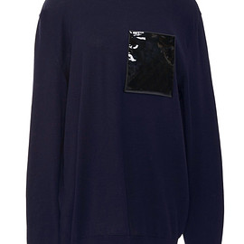 Christopher Kane - Pre-Fall 2015 Polo Neck Jumper With Patent Patch Pocket