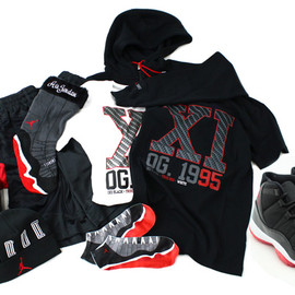 Nike - AIR JORDAN 11 COLLECTION BLACK/VARSITY RED
