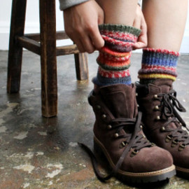 Fanny Veith - multi wool socks