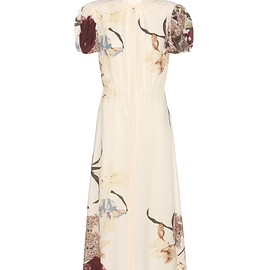 VALENTINO - Printed silk dress