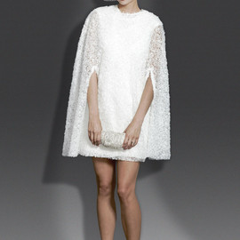 Modern trousseau - 2014 molly short wedding dress with cape