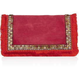 Matthew Williamson - Embellished suede clutch