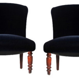 Pair of Vintage Bedroom Slipper Chairs