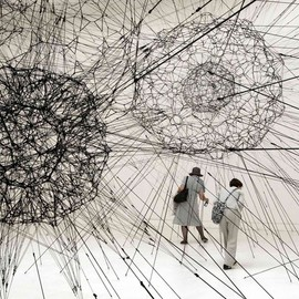 Tomas Saraceno - Galaxies forming along filaments, like droplets along the strands of a spider's web