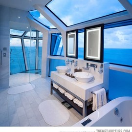 Bathroom - ocean view design