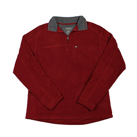 L.L.Bean - L.L.Bean Fleece Jacket in Red Mens Size Medium