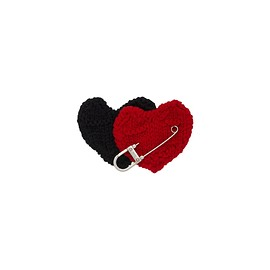 PRADA - Safety pin with heart