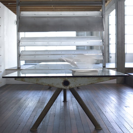 Jean Prouvé - Steel Table and Aluminium Sun-Breaker