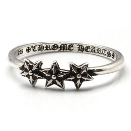 CHROME HEARTS - Bubblegum 3 Star Ring
