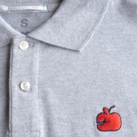 Publik - GM Apple Poloshirt by Geoff McFetridge