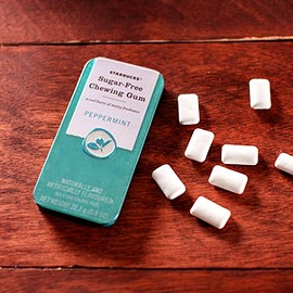 STARBUCKS - Sugar-Free Chewing Gum (PEPPERMINT)