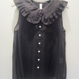 I am I - big frill blouse