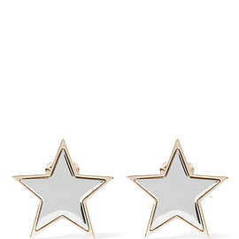 GIVENCHY - Star earrings in pale-gold and silver-tone