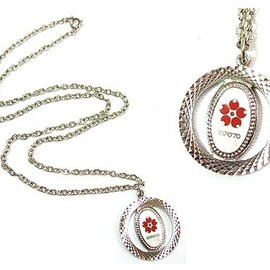 """EXPO '70 - EXPO '70 大阪万博 シンボルマーク「桜」ネックレス ペンダント Symbol """"Cherry blossoms"""" necklace pendant"""