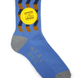 MY LOADS ARE LIGHT - Zigzag Sox (blue)