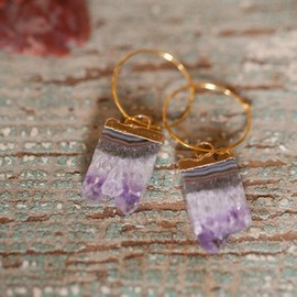 Amethyst Slice Earrings by Rifle+Radford
