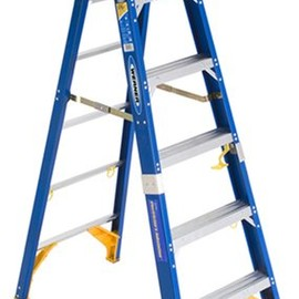 Werner - OBEL06 Old Blue Electricians 375-Pound Duty Rating Fiberglass Stepladder/Job Station, 6-Foot