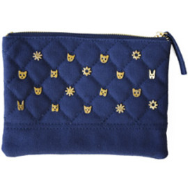 karen walker - Critter Studded Zip Case (navy)