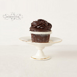 Anthropologie - Gold-Trimmed Cupcake Stand