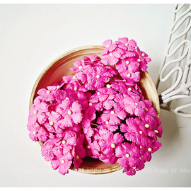 Luulla - mini mulberry paper flowers Sweet pink / pack