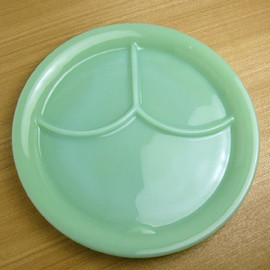 Fire King - Jadeite 3 Compartment Plate