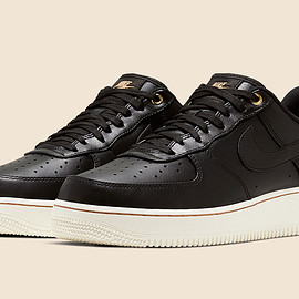 NIKE - Air Force 1 Low - Black/Sail/Metallic Gold/Vachetta Tan