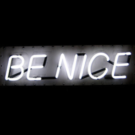 MarcusConradPoston - Neon Sign - BE NICE