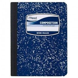 Mead - Mead Composition Book, Notebook, Wide Ruled, 9.75 x 7.5 Inch, Blue (72251)