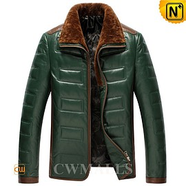cwmalls - Mens Lambskin Leather Down Jackets CW846023