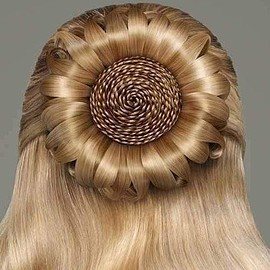sunflower hair arrangement