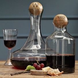 west elm - Glass Bottles with Wood Stoppers