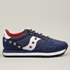 SAUCONY - Men's Blue Stripes Jazz Sneakers