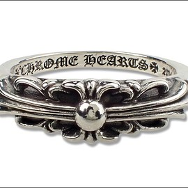 CHROME HEARTS - Baby Classic Ring FLORAL CROSS
