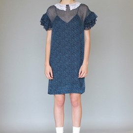 KAREN WALKER - RUFFLE SLEEVE DRESS