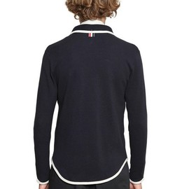 Thom Browne - Navy Blue Cotton Terry Cardigan