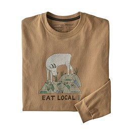 patagonia - M's Long-Sleeved Eat Local Goat Responsibili-Tee®, Bearfoot Tan (BRTA)