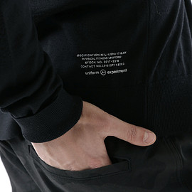 UNIFORM EXPERIMENT - TURN BACK CUFF CREW NECK KNIT